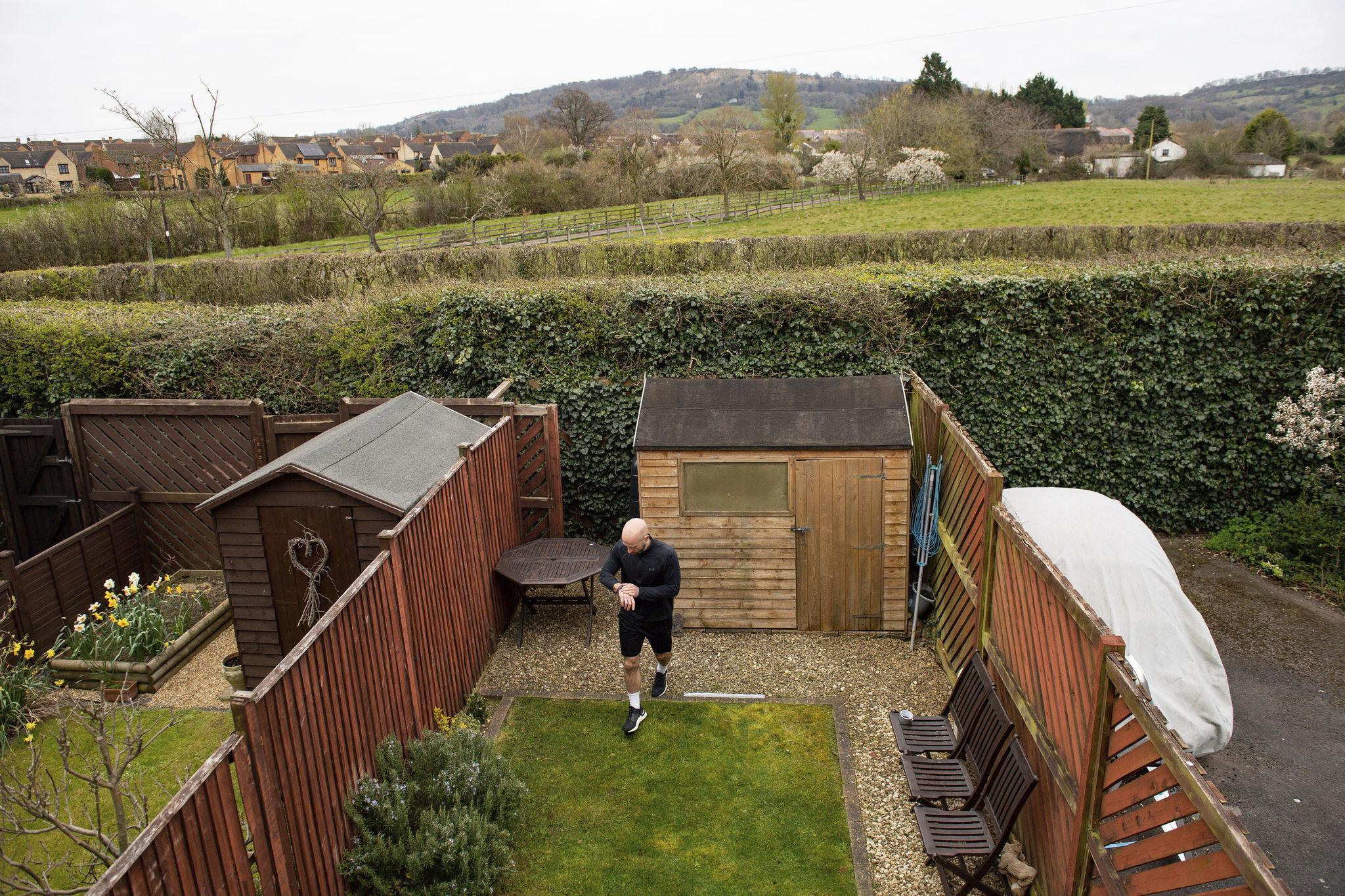 U.K. man raised $33,500 for charity running a marathon in his 20-foot backyard, during coronavirus lockdown
