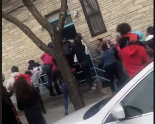 SEE IT: Teens flout NYC social distancing rules in Brooklyn street brawl