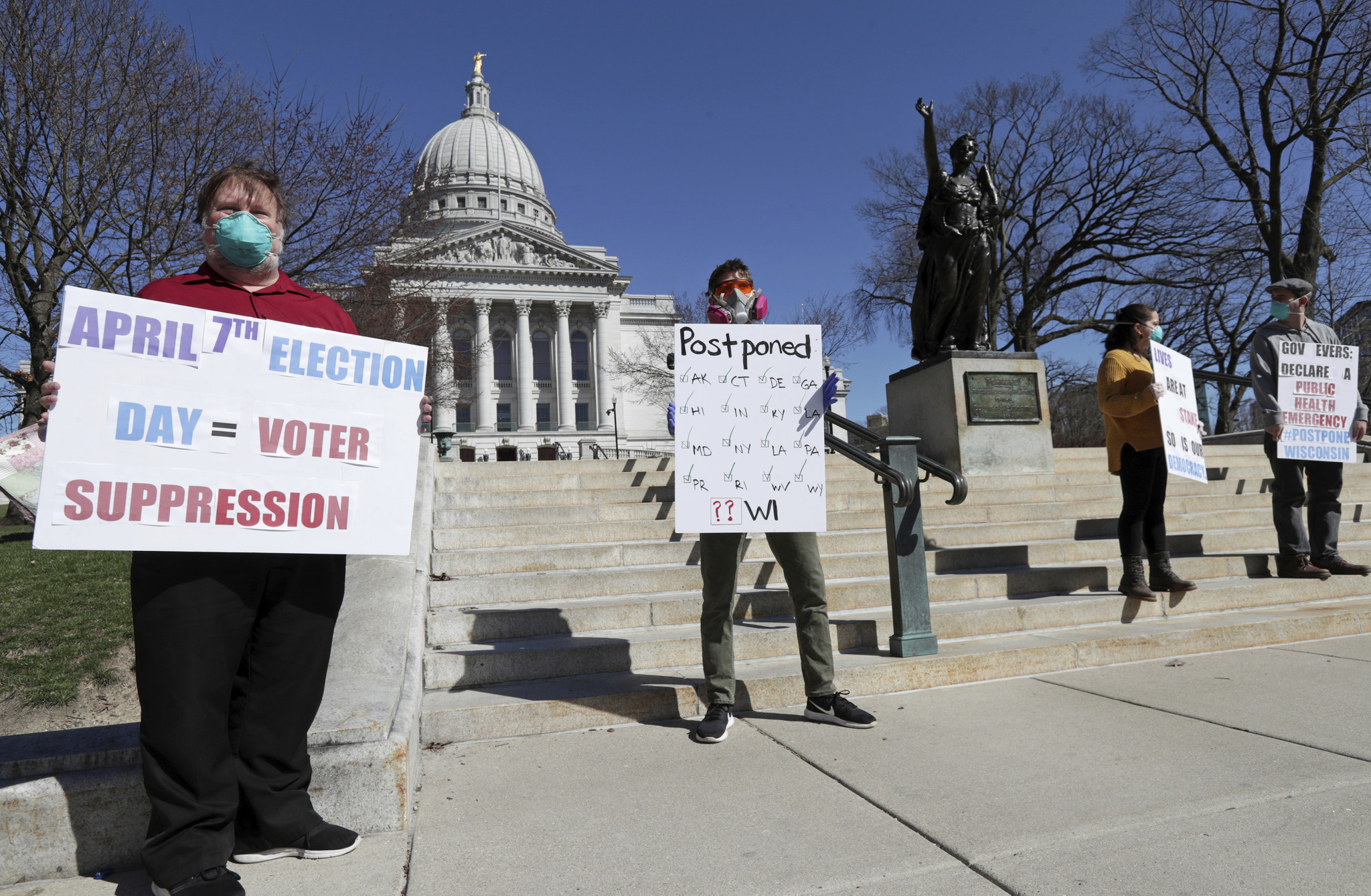Wisconsin Republicans blow off demands to delay coronavirus-tainted election