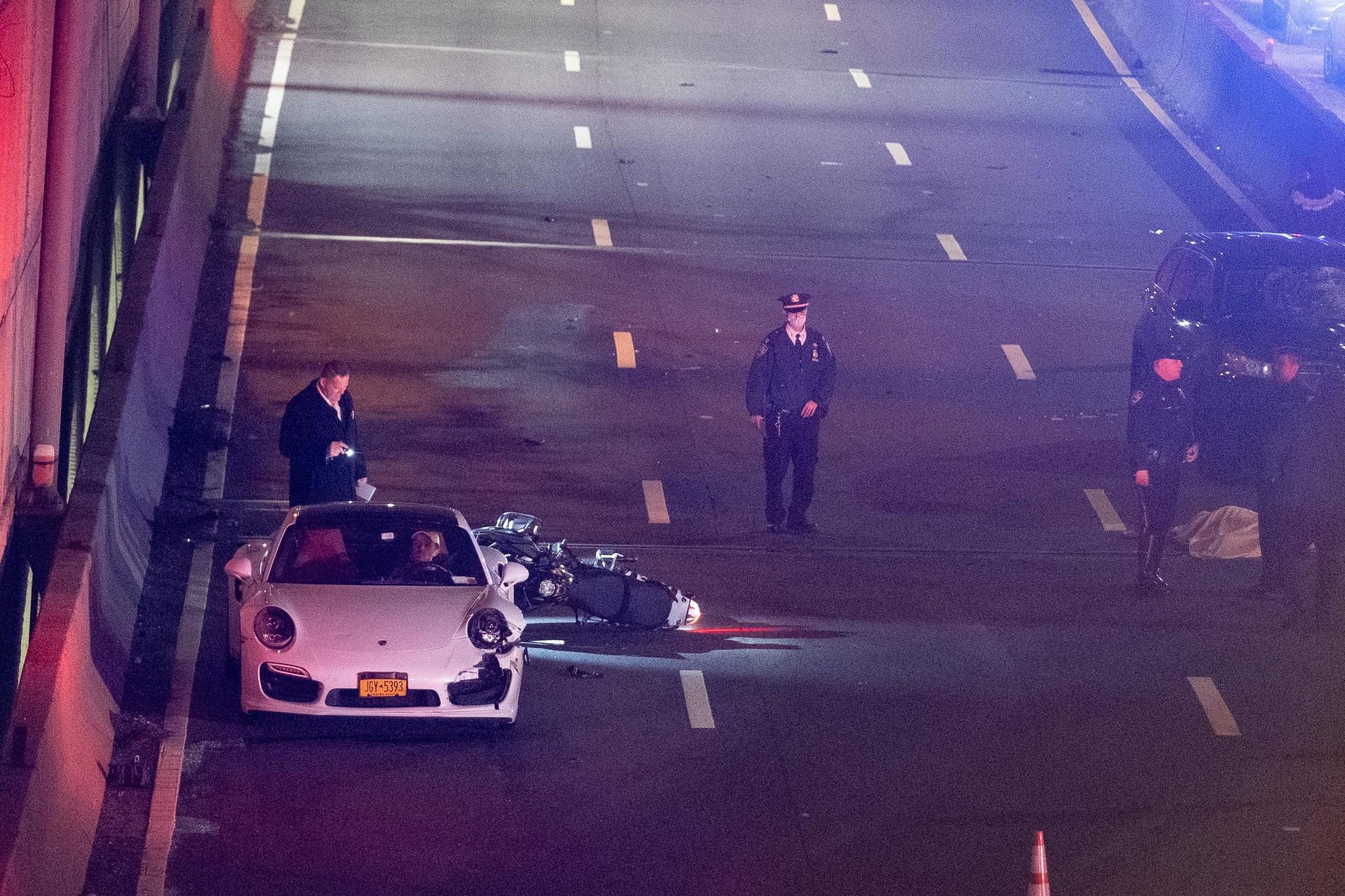 Motorcyclist dies in 3-vehicle crash on Henry Hudson Parkway