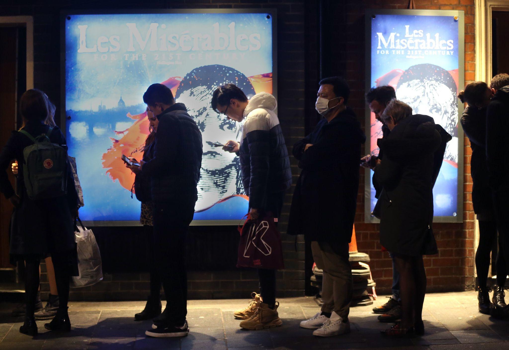 London's West End theater district extends coronavirus shutdown through May