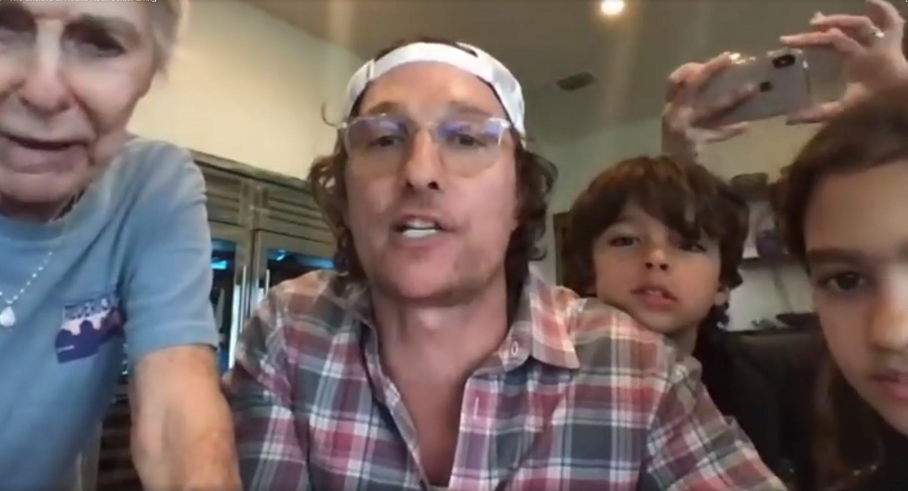 Matthew McConaughey played virtual bingo with senior citizens under coronavirus quarantine