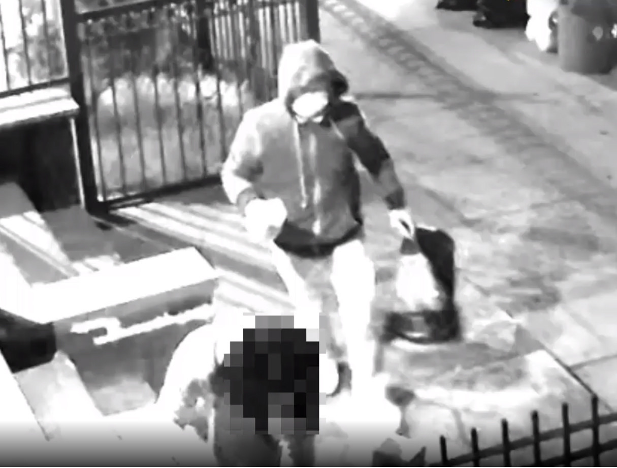 SEE IT: Man in mask burns Brooklyn woman with unknown chemical