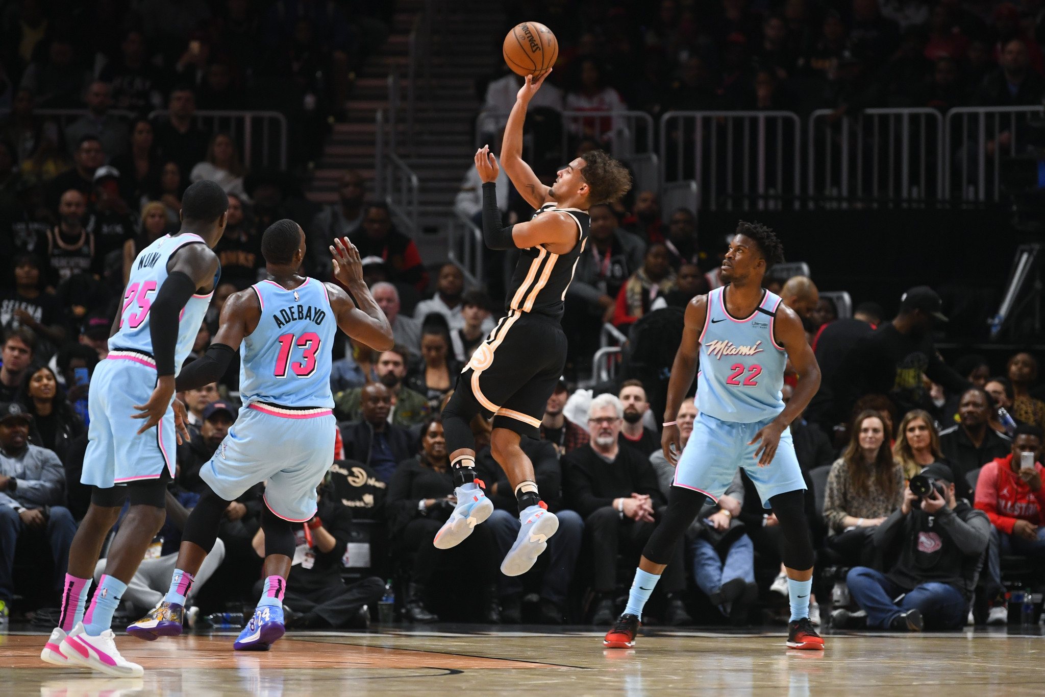 Trae Young is the heavy favorite in H-O-R-S-E, unless dunking is allowed