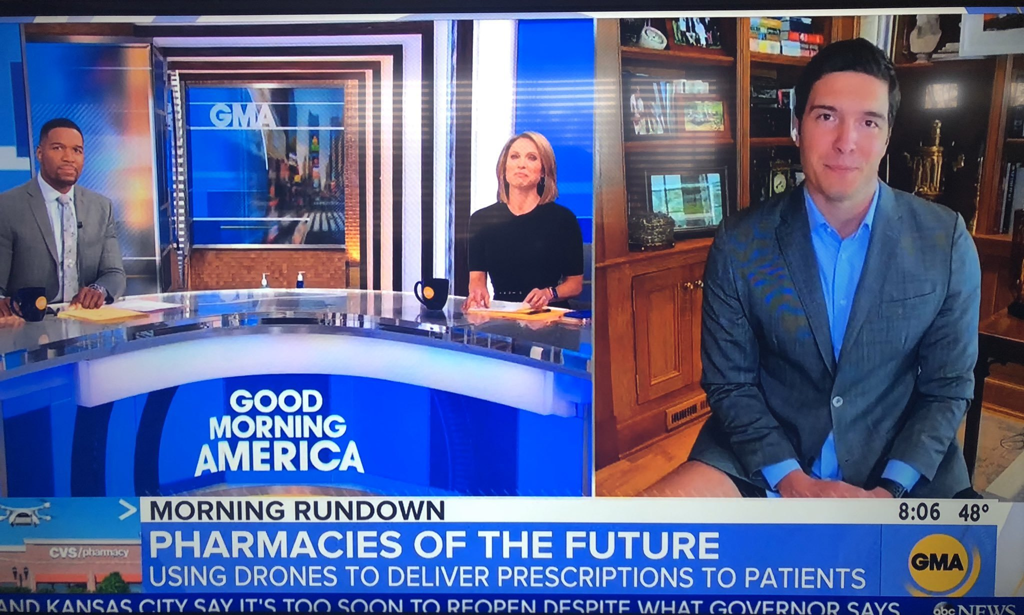 ABC reporter goes pantsless during Zoom appearance on 'Good Morning America'