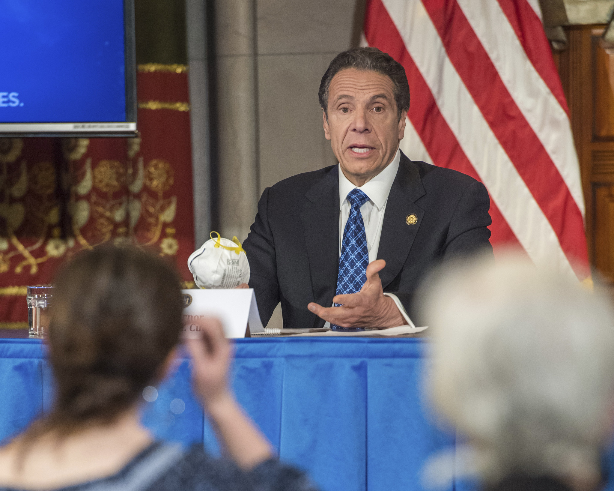 'Self portrait of America': Cuomo reveals donated masks from across the U.S.