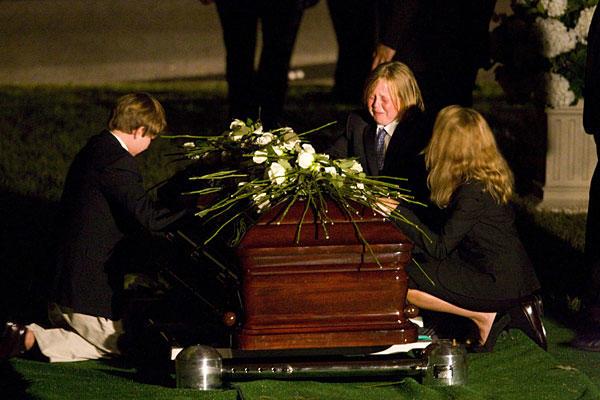 Senator Edward Kenedy Casket: The Funeral Of Sen. Edward M. Kennedy
